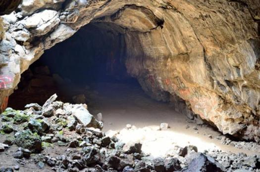 """Plutos Cave, located north of Mount Shasta, was occupied and used by Native Americans throughout the prehistoric era. After the gold rush, the cave was used by secret societies initiations and rituals. Today Pluto's Cave is believed by modern spiritualist to be an entrance into the Inner Earth, where aliens live underground in a secret city."""
