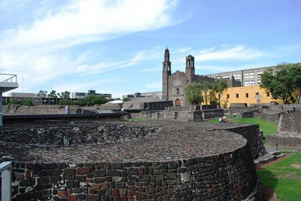 Previously uncovered structures in the Tlatelolco archeological zone.