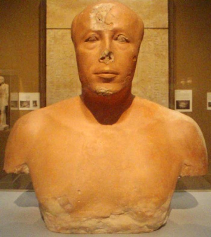 Busto del príncipe Ankhhaef, medio hermano y visir de Keops.