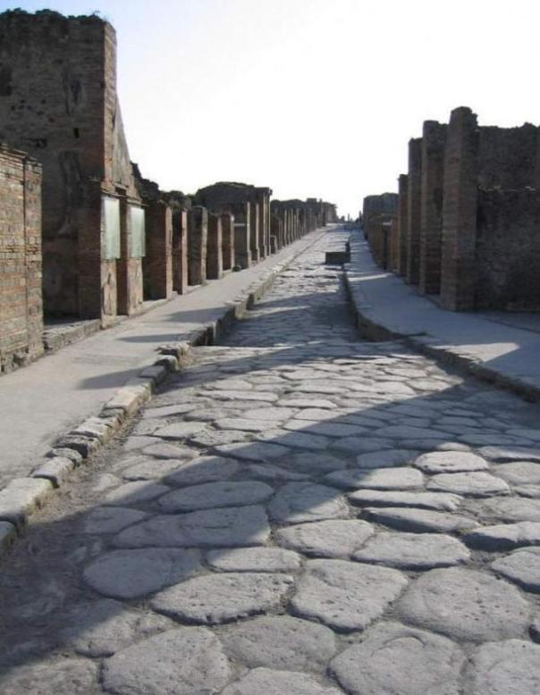 Una calle romana de Pompeya.