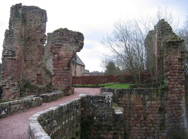 Ruins of Sinclair (Roslin) Castle, Roslin, Scotland.