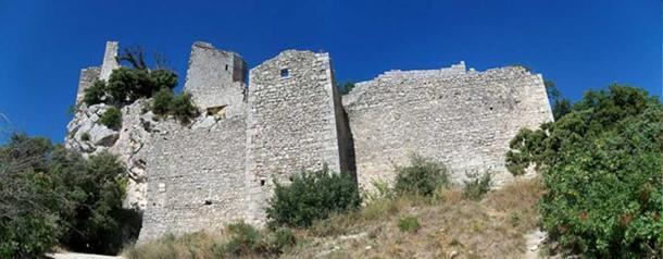Ruins of the Castle of Oppède le Vieux, Vaucluse, France