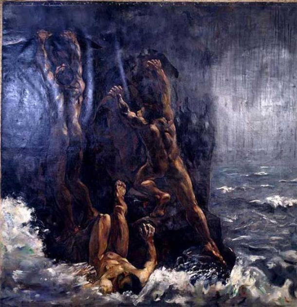 The Flood (Die Sintflut, Suendflut) di Lesser Ury. (The Commons)