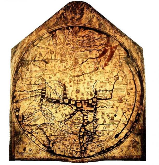 The Hereford Mappa Mundi.