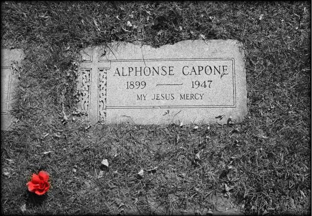 La tombe d'Al Capone à Hillside, Illinois