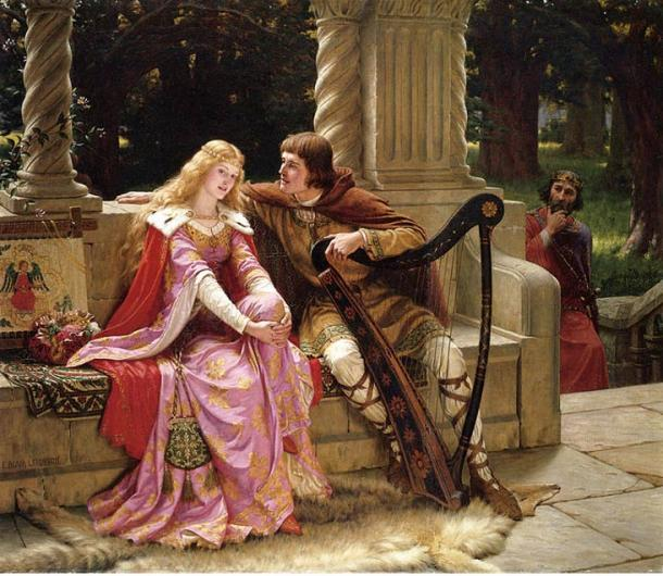 Tristan and Iseult. The End of the Song by Edmund Leighton