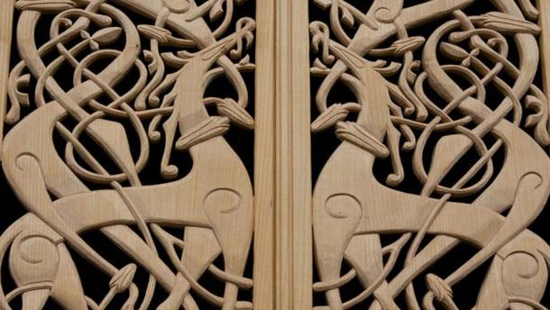 Viking patterned woodwork.