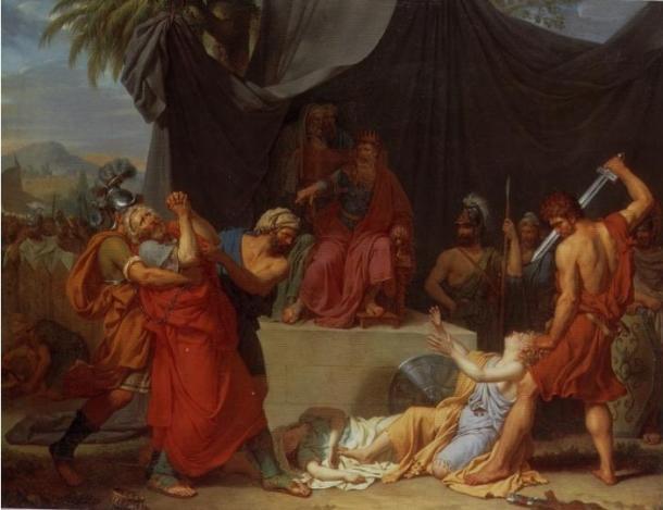 Nabuchodonosor Has Zedekiah's Children Killed before his Eyes (1787), Fabre