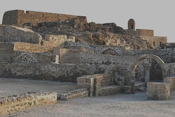 El sitio de Qal'at al-Bahrain tal como está hoy.