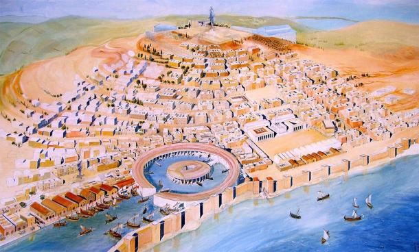Représentation de l'ancienne Carthage du Musée de Carthage.  (damian entrwistle / CC BY-SA 2.0)