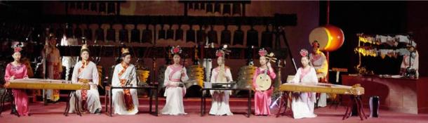 A re-enactment of ancient traditional music performance