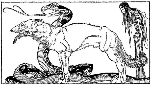 """Les enfants de Loki"" (1920) de Willy Pogany."
