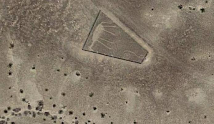 Uno dei geoglifi più controverse sembra rappresentare un cavallo.