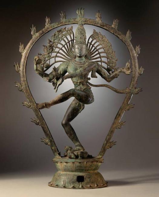 A Shiva bailando. Chola estatua dinastía, India.