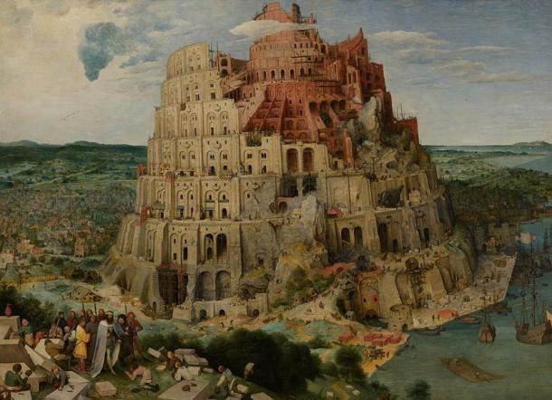 La représentation de Pieter Bruegel l'Ancien de la Tour de Babel