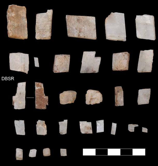 Crystals collected by the first Homo sapiens in the southern Kalahari 105,000 years ago.  (Credit: Jayne Wilkins)