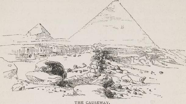 giza causeway - Después de décadas de búsqueda, la Calzada de la Gran Pirámide de Egipto se ha encontrado