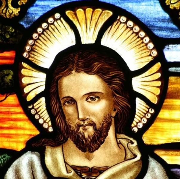Representación Vidrieras de Jesús en San Juan Iglesia Anglicana del Bautista.