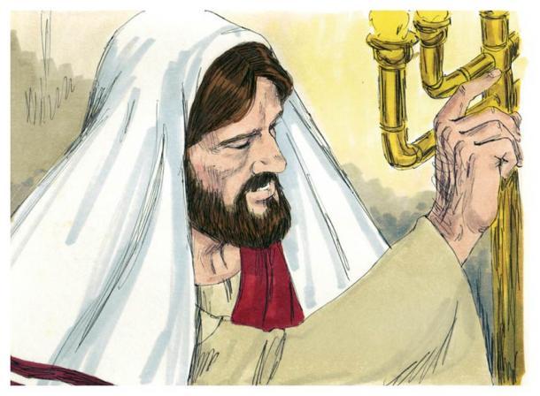Illustrazione biblica del Vangelo di Luca, capitolo 4, che suggerisce che Gesù era letterato (Jim Padgett / CC-BY-SA 3.0)