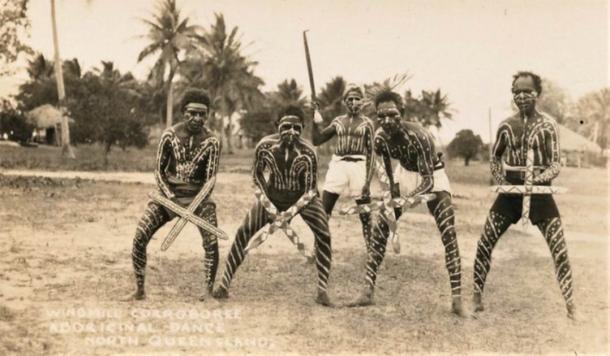 Вітряк Corroboree, аборигенські танці, Північний Квінсленд - дуже початок 1900-х.  (Публічний домен)