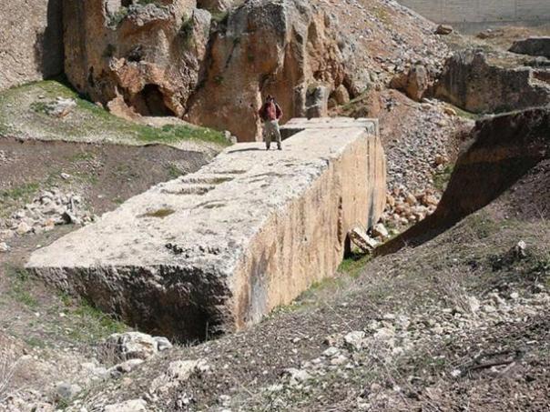 Un megalito en Baalbek.