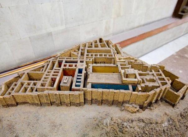 Un modelo de la Fortaleza de Erebuni