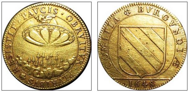 Un contatore dal 1648 raffigura un oggetto circolare simile.