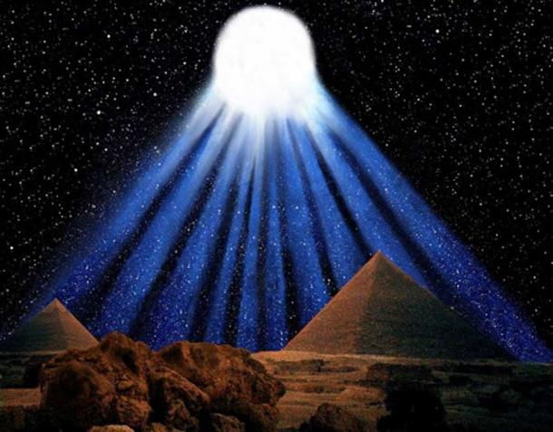Impressione della spettacolare cometa dieci coda registrata dagli antichi Egizi nel 1486 aC.