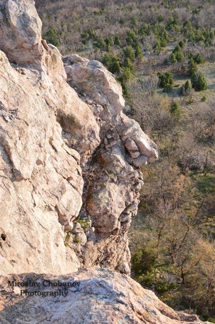 Il terzo dei volti al santuario di roccia.