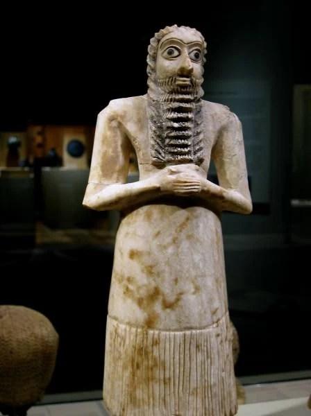Mesopotamian Male Worshiper Votive Figure