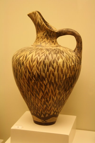 Minoan Clay Jug in Floral Style