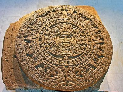 Image result for aztec stone calendar painting