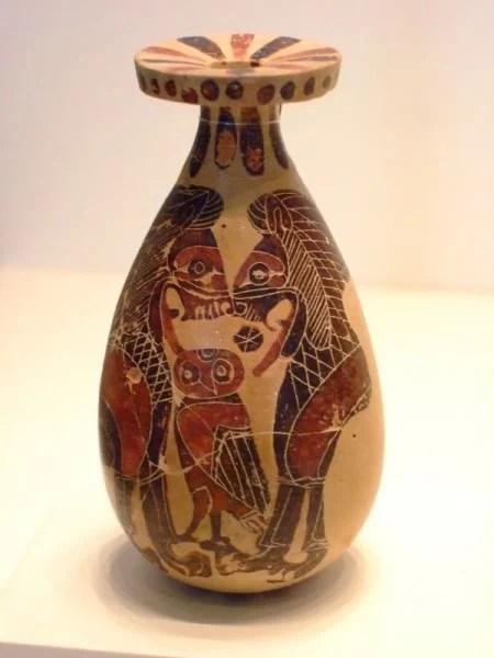 Corinthian Alabastron Vase