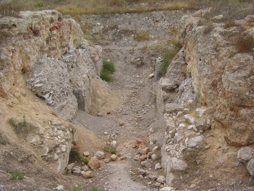 The MB Canaanite gate found on the western hill.
