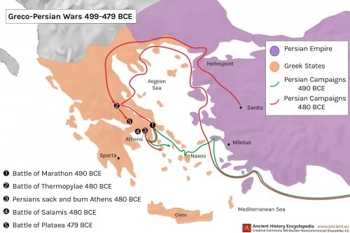 Map Of Ancient Greece And Persia » Online Interactive Map Wallpapers ...