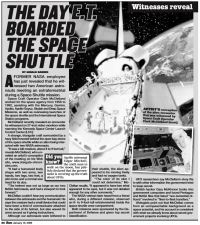 "The Sun: ""The Day E.T. Boarded The Space Shuttle"""