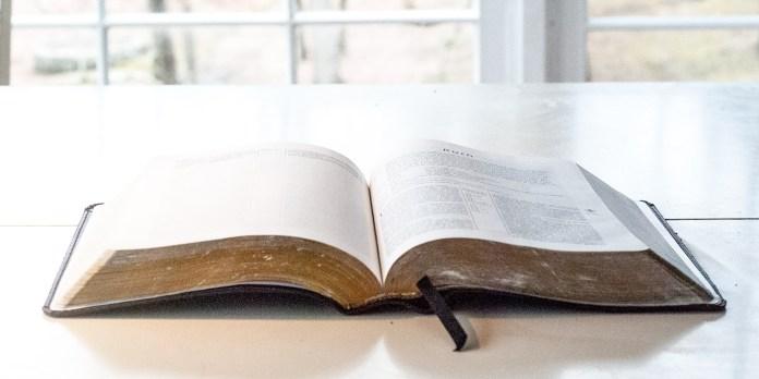 Mosaic Bible Open