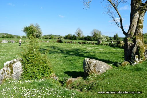 Ancient Ireland and Great Stone Circle near Lough Gur