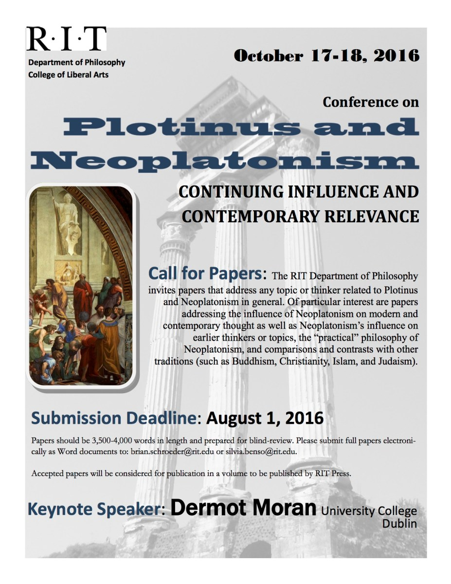 Plotinus and Neoplatonism Call For Papers   Ancient