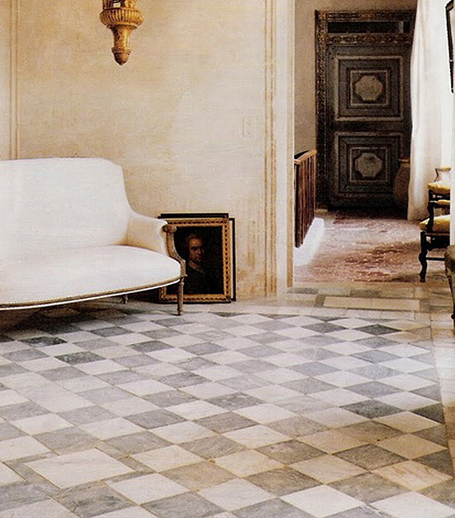 A Unique Collection Of Antique Reclaimed Marble Floor And - Metal Floor Tiles