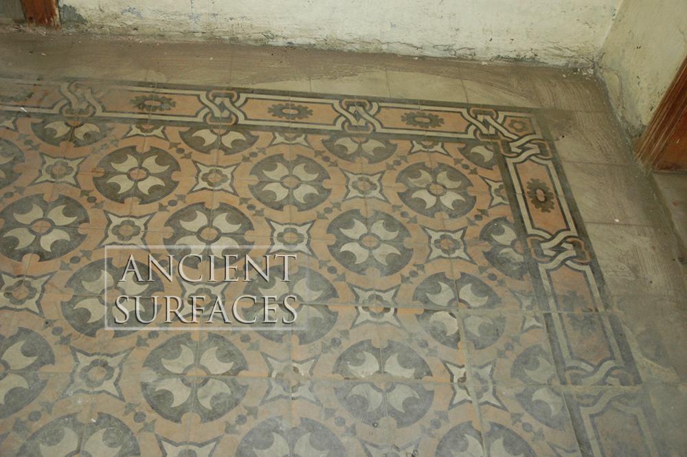 ancient encaustic cement tiles