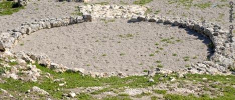Bronze age settlement. © Michelle Chaplow