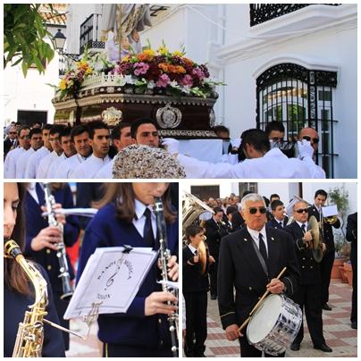 Semana santa tolox sierra de las nieves Easter Sunday parade marching band 2