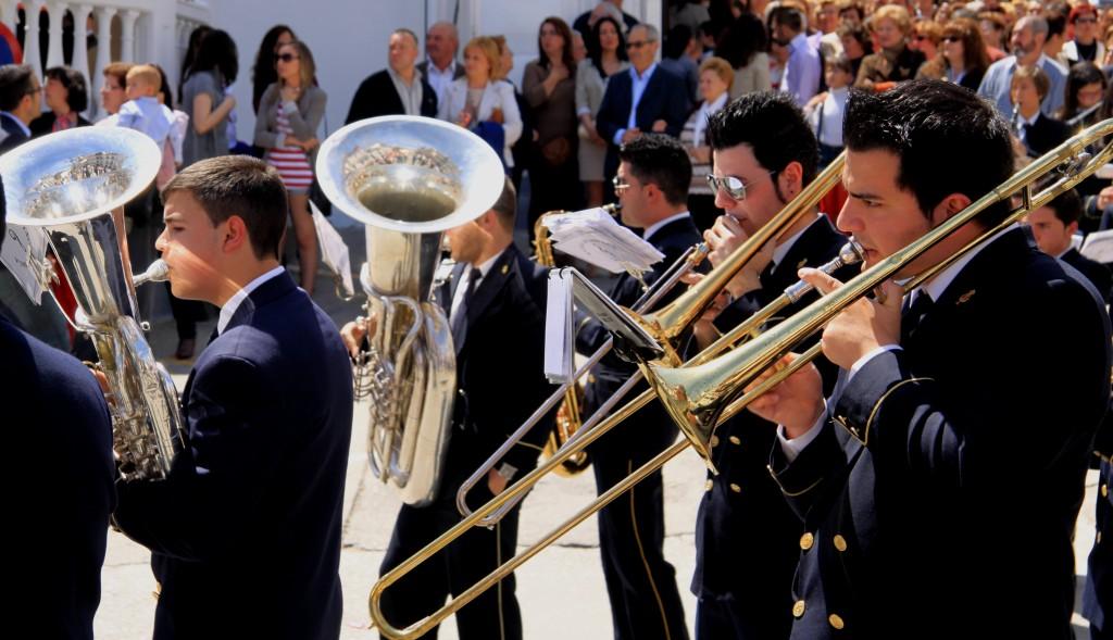 Semana santa tolox sierra de las nieves Easter Sunday parade marching band