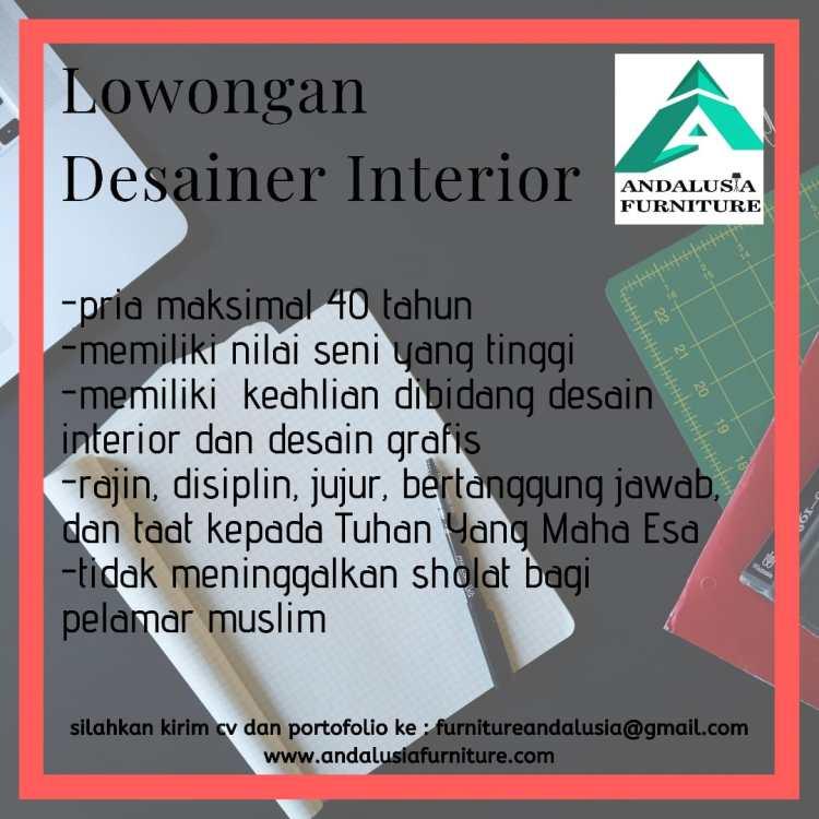 Lowongan Desainer Interior