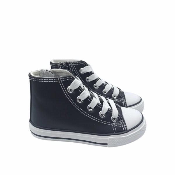 Zapatillas altas cuero sintetico