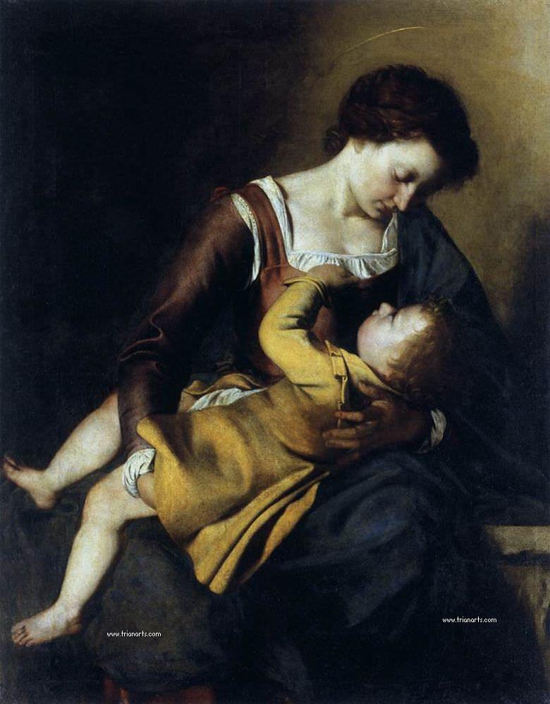 Orazio Gentileschi, Virgen con Niño (1603)