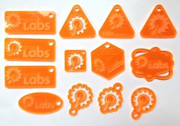 Laser cut keychain prototypes