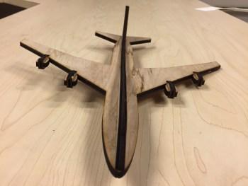 747 laser cut model