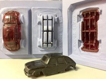 2 part mold for a model car.